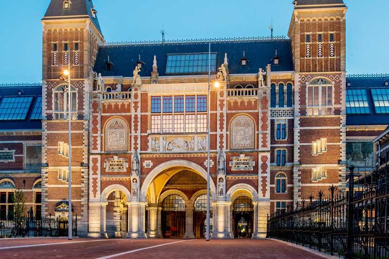 Entrada principal al Rijksmuseum